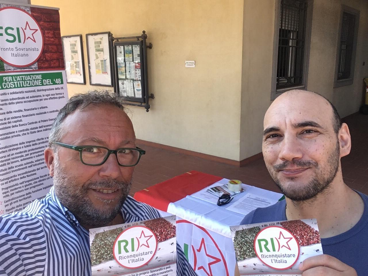 Banchetto fronte sovranista italiano a gatteo fc o dell for Gardini per arredare gatteo fc